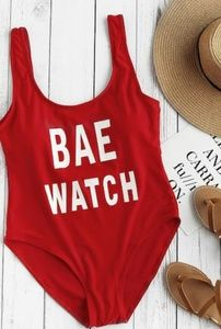 Other - Bae watch red one piece swimsuit